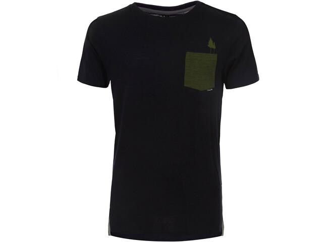 Pally'Hi Pocket Tree T-shirt Heren, bluek